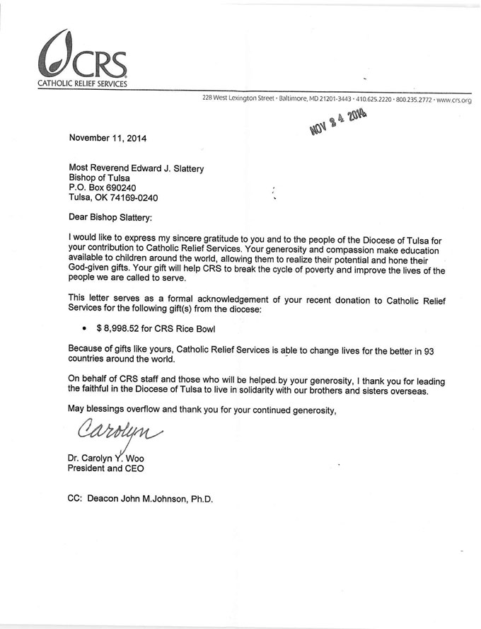 The Sponsor's Letter to the Bishop